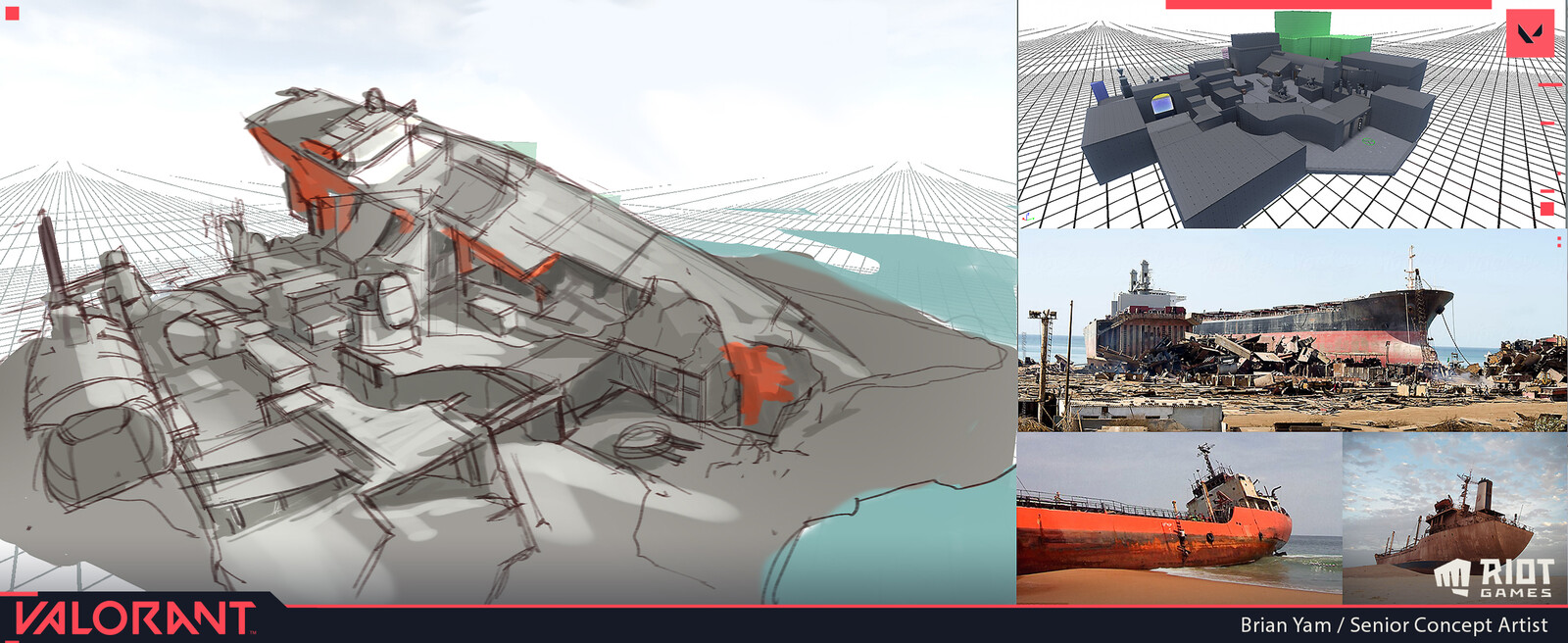 Initial concept that inspired the ship graveyard for Breeze