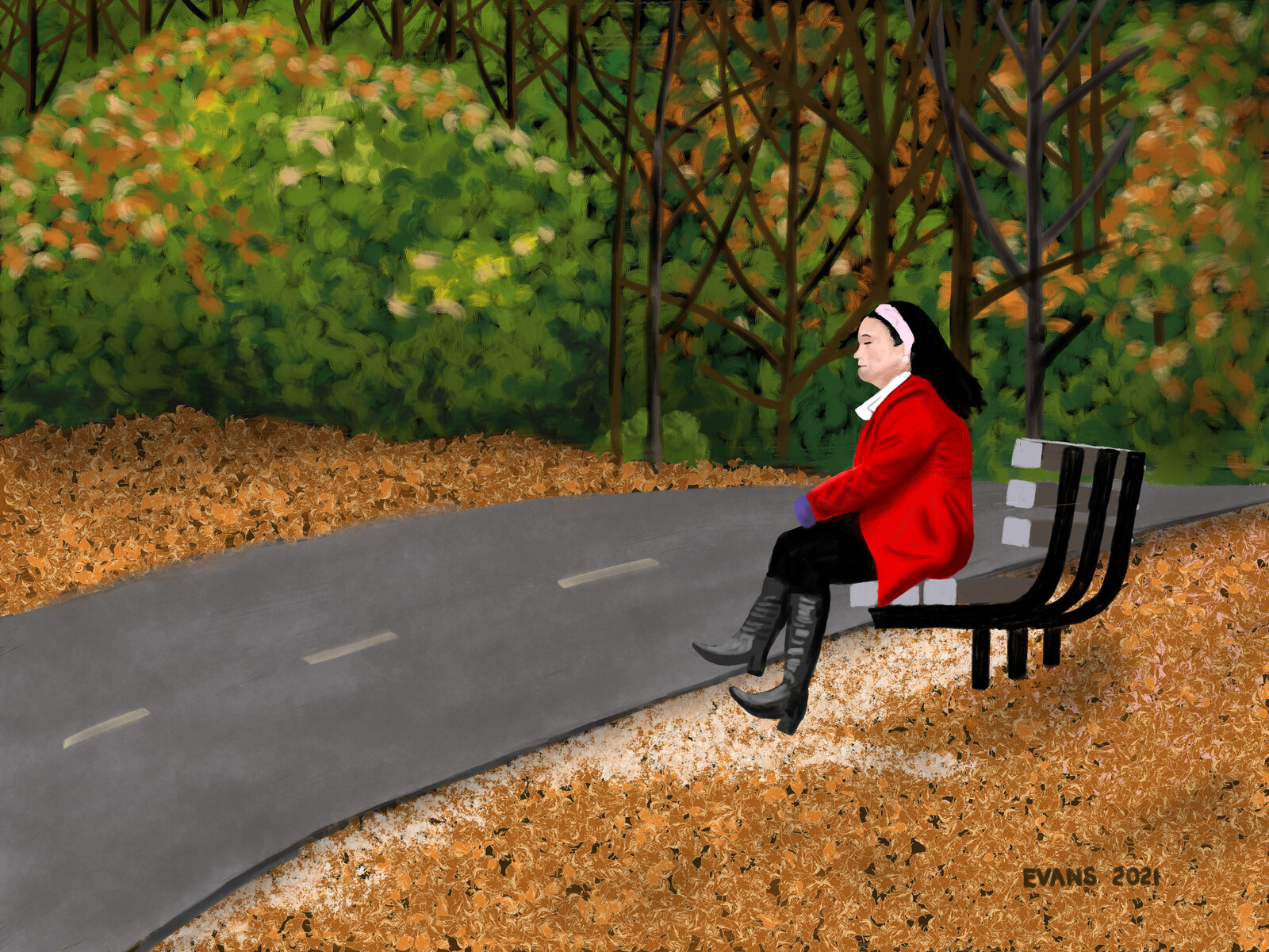 Woman on Bench 2021