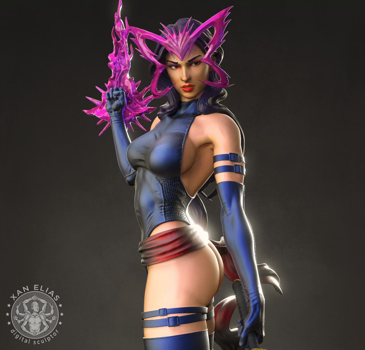 XMen Psylocke 1:4 collectible Statue