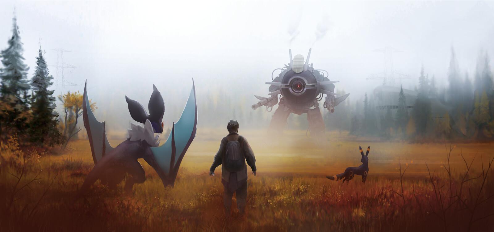 Team Rocket Mech wants to battle