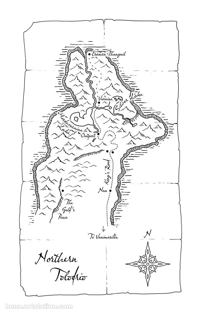 Map Art: Hravan and Tolodrio
