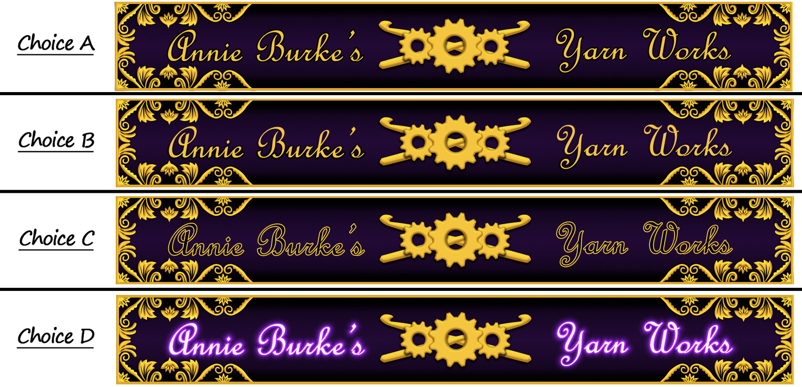 Fourth batch of receipt banner concepts