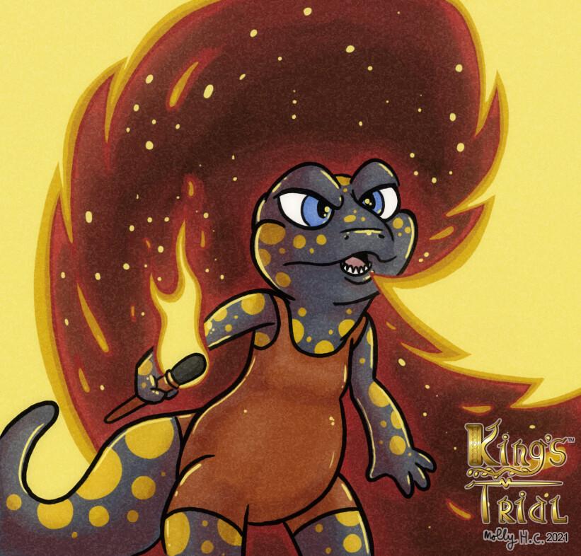 King's Trial: Wannabe Dragon card illustration (2020)