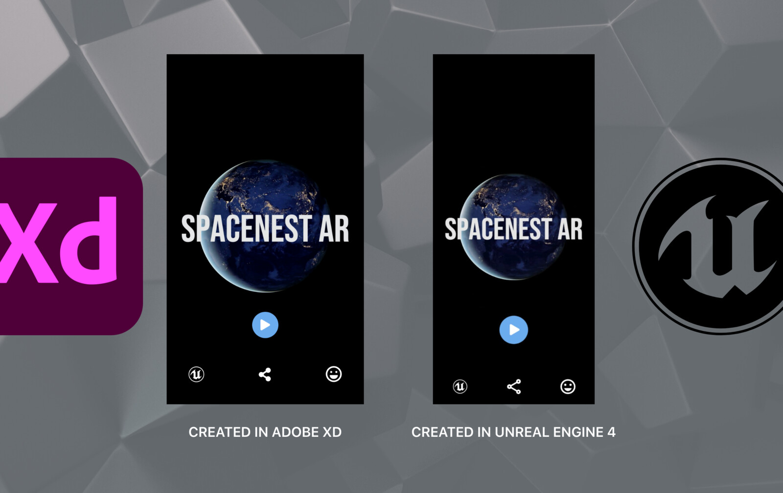 Comparsion between Mockup and actual Developed application #1