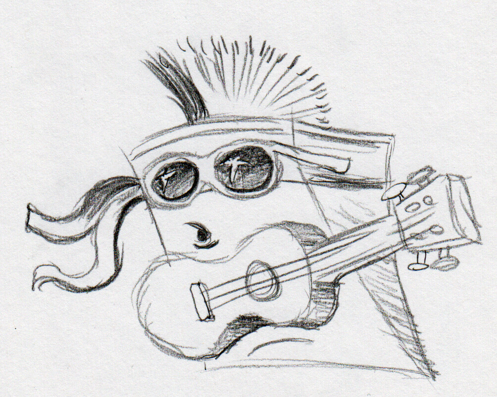 To-Fu as a rock star!!!