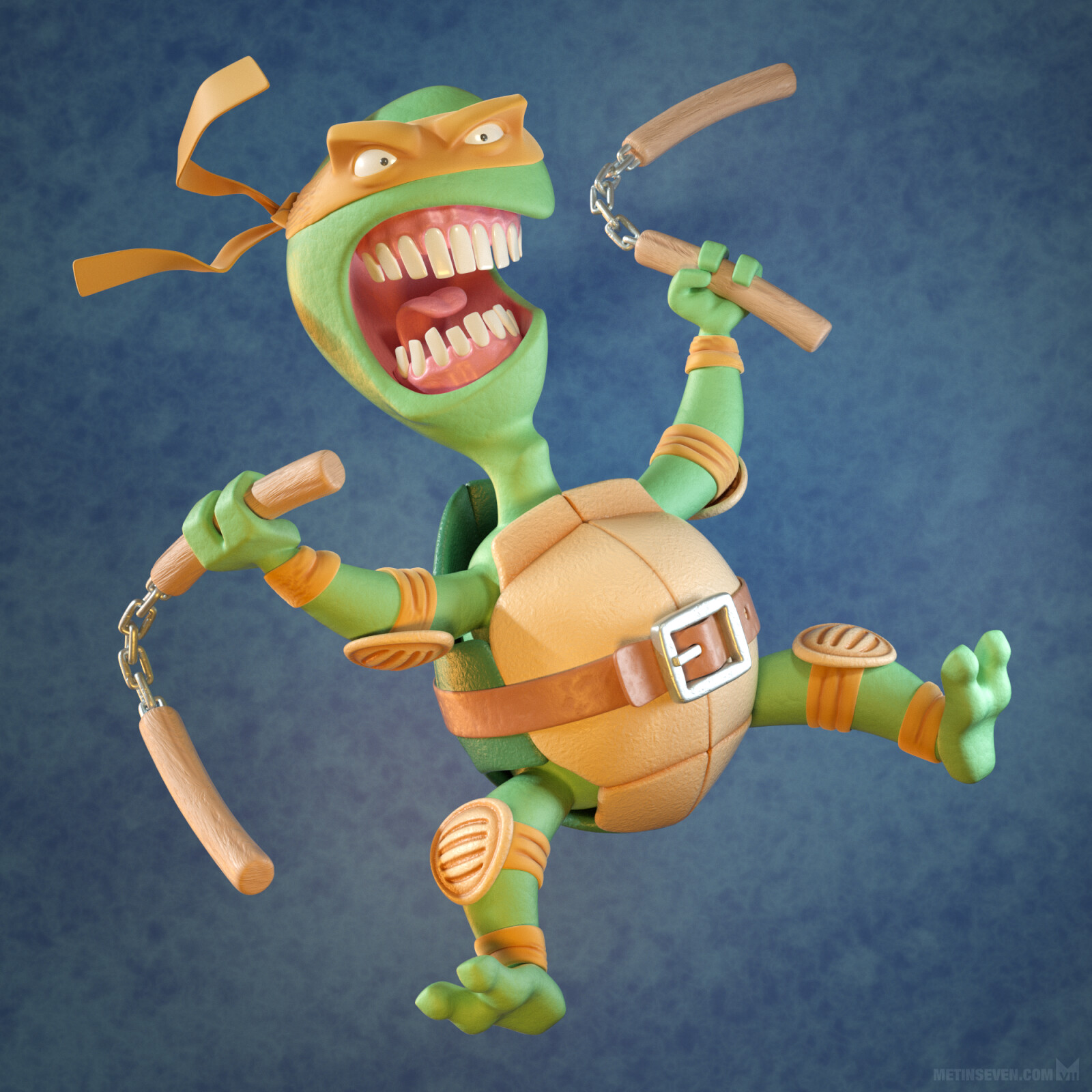 Cowabunga! 🐢 | Tribute to the Teenage Mutant Ninja Turtles, based on a sketch by Kevin Keele