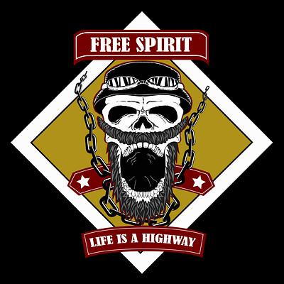 Ismir besirovic biker emblem blck