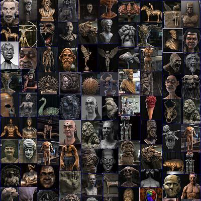 Surajit sen flashback 2021 till april some sculptures by surajit sen l