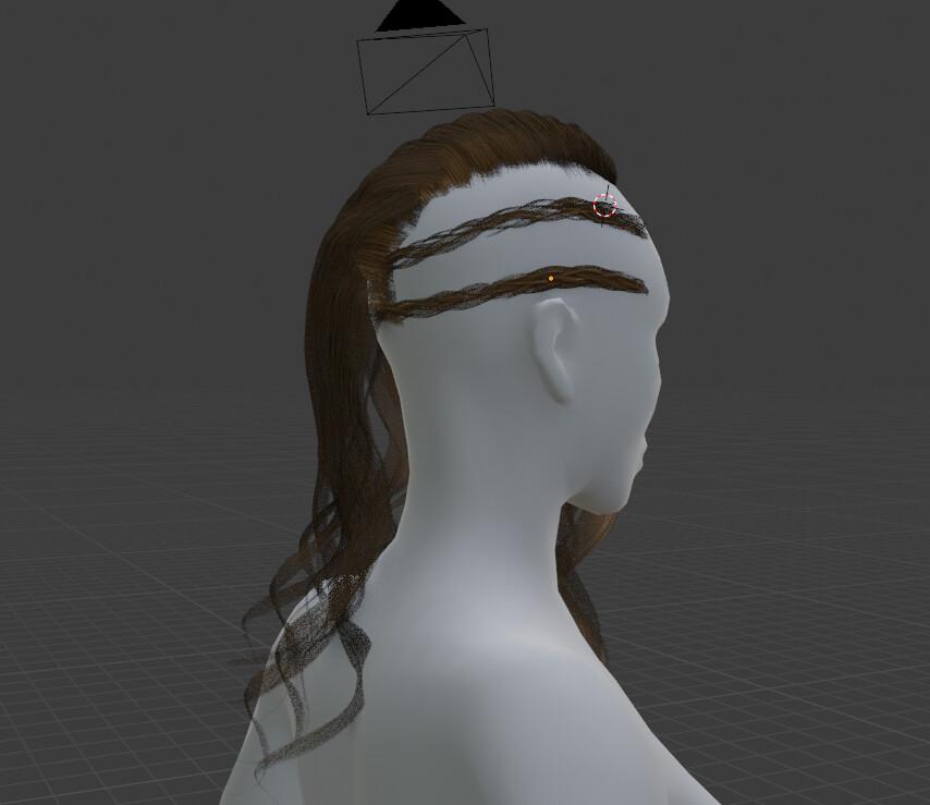 Hair in blender back view