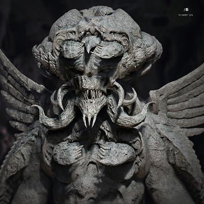 Surajit sen tricon creature digital sculpture surajitsen may2021aa l