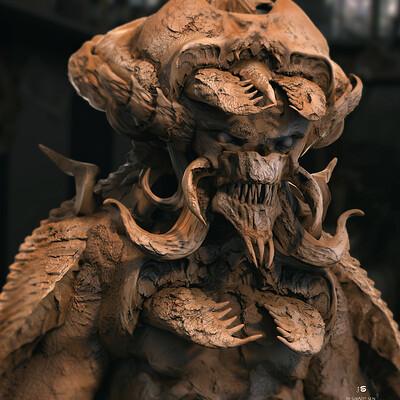 Surajit sen tricon3 creature digital sculpture surajitsen may2021aa l