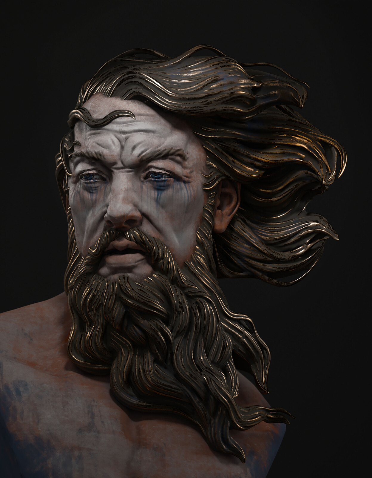 Classical sculpture - Poseidon