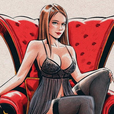 Adan vazquez woman sitting armchair midres