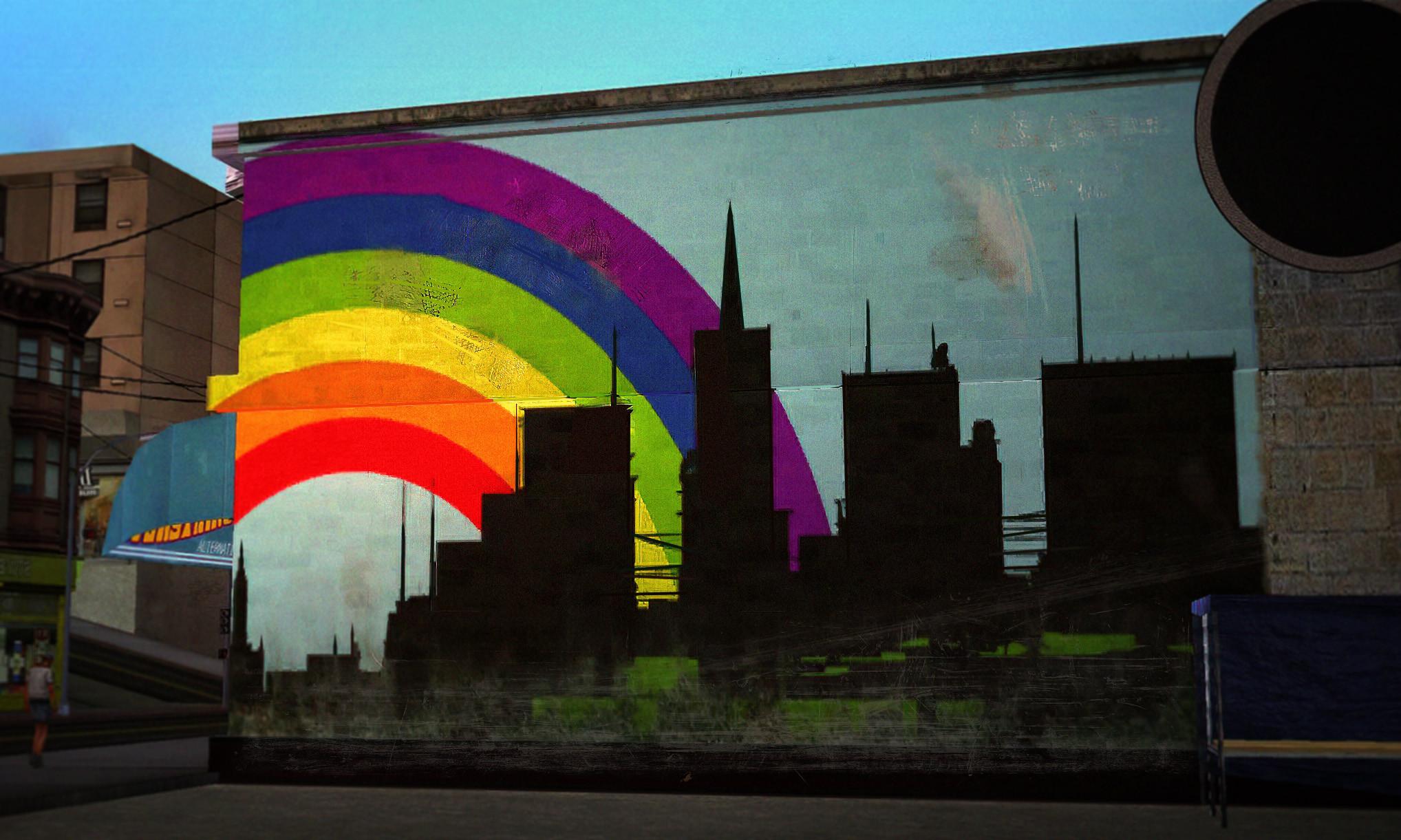 Rainbow in San Fiero 🎏