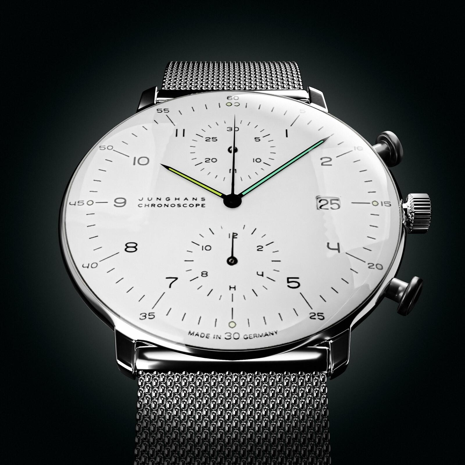Junghans Men's Max Bill Auto Chronoscope Watch