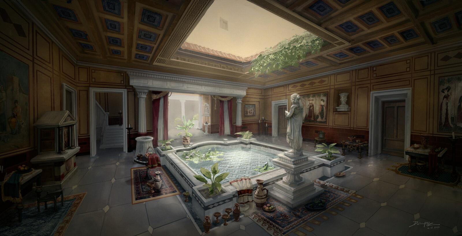Ancient Rome Domus Interior_Lobby