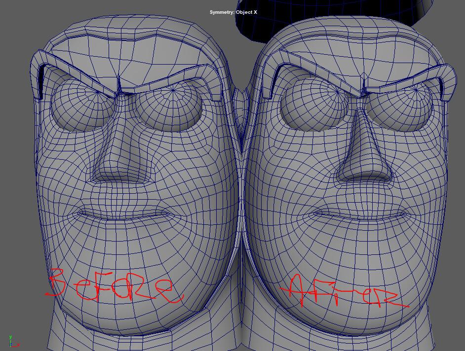 Face topology Modification