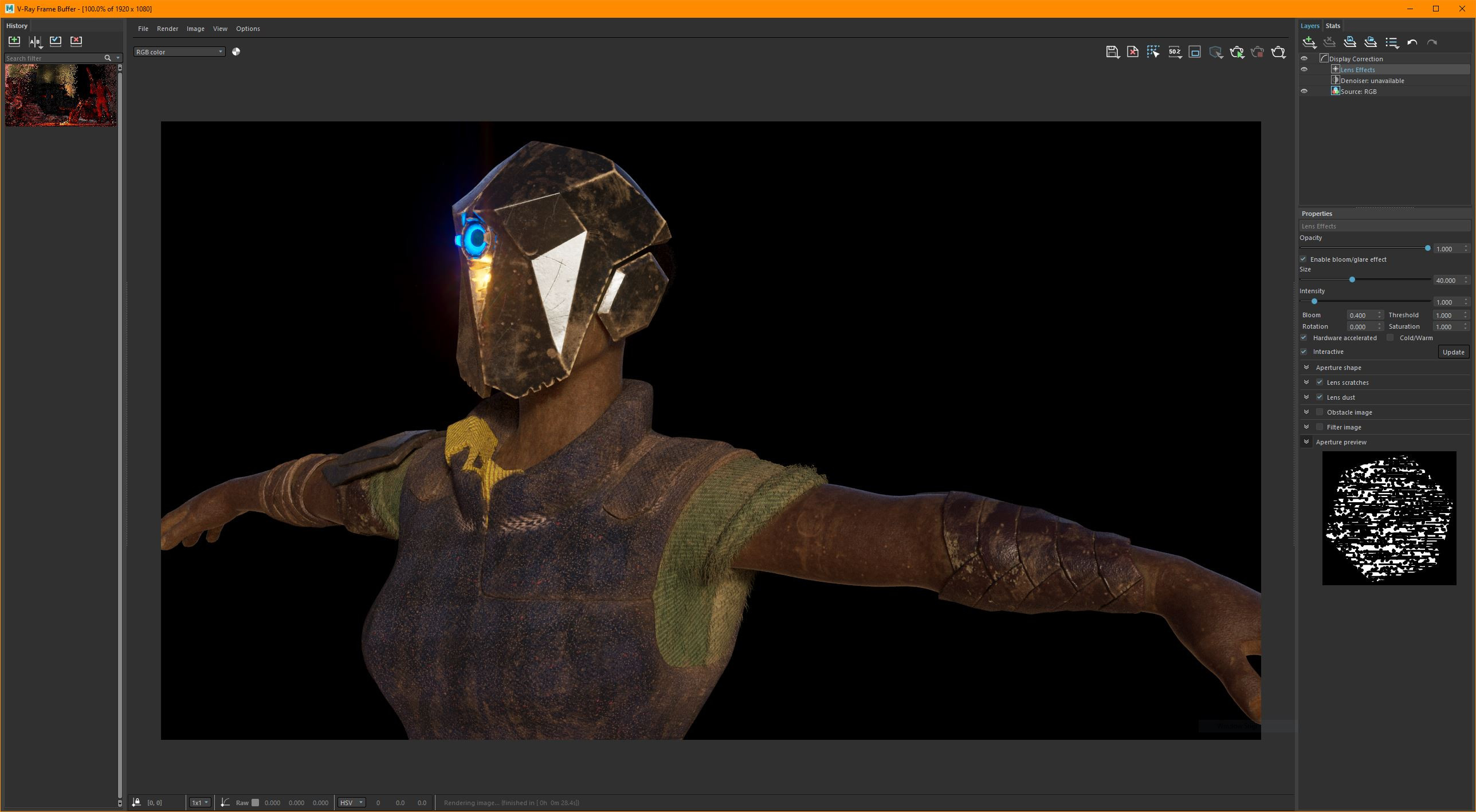 Close up of Moya's upper body. (Early LookDev).