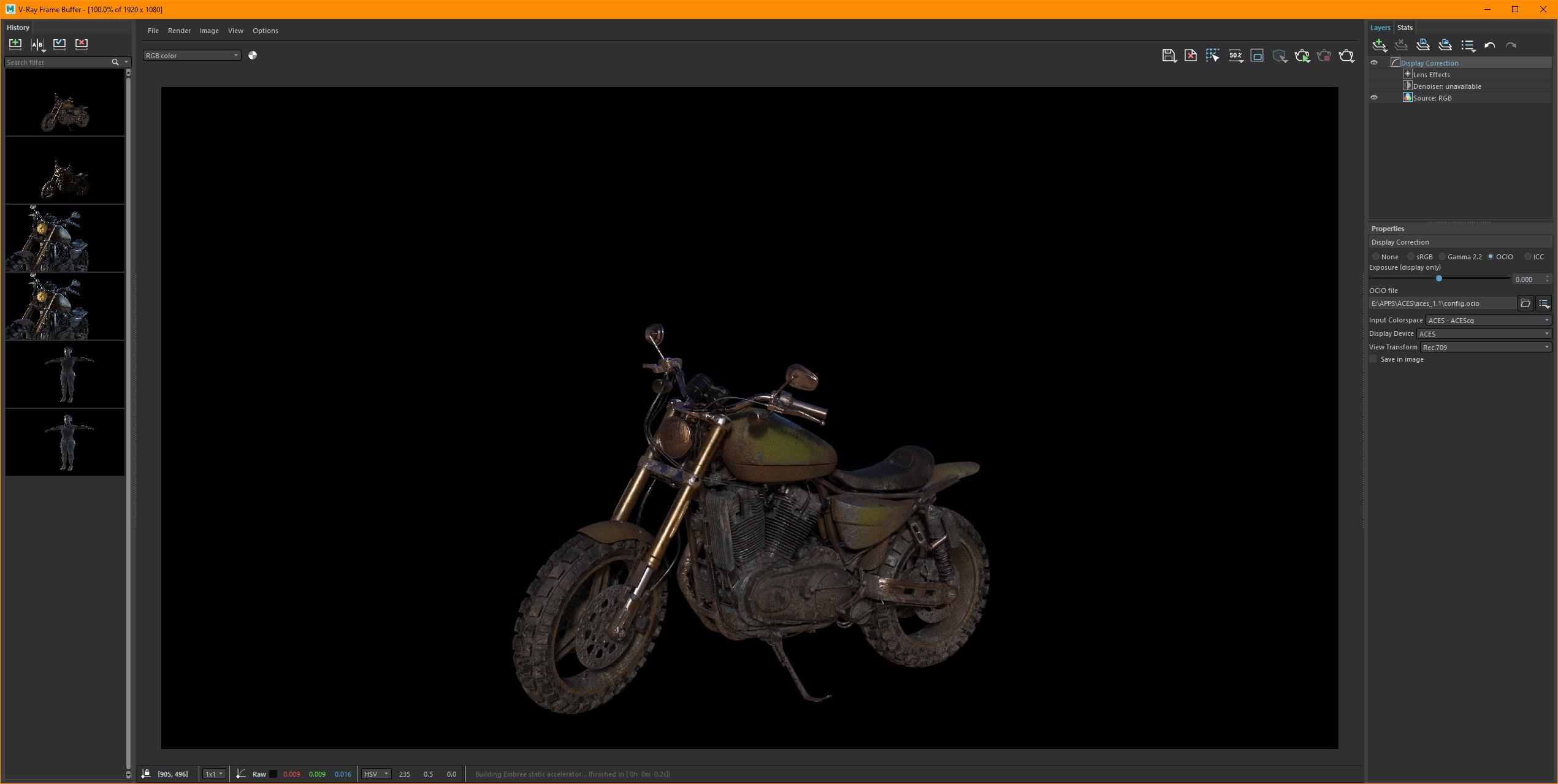 Look Dev of Re-textured Bike.