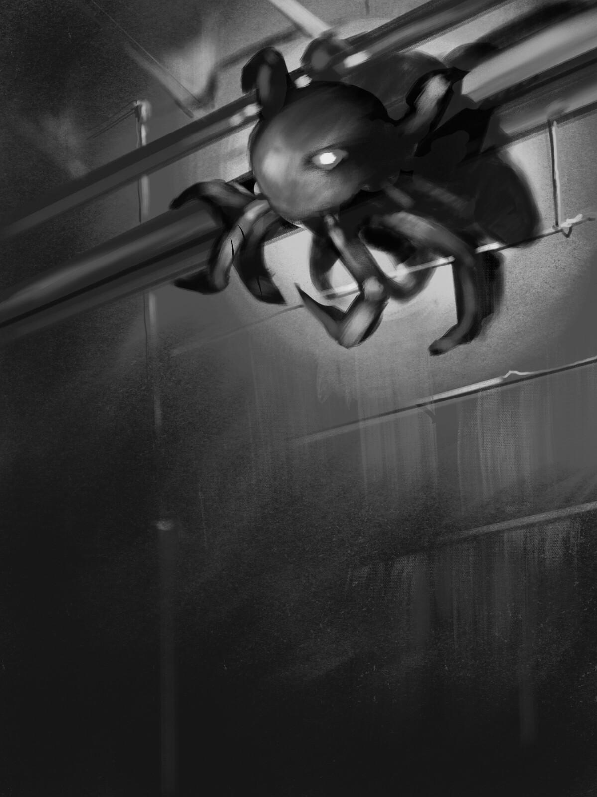 Nice. I found this creepy little bastard in my nightmare basement.