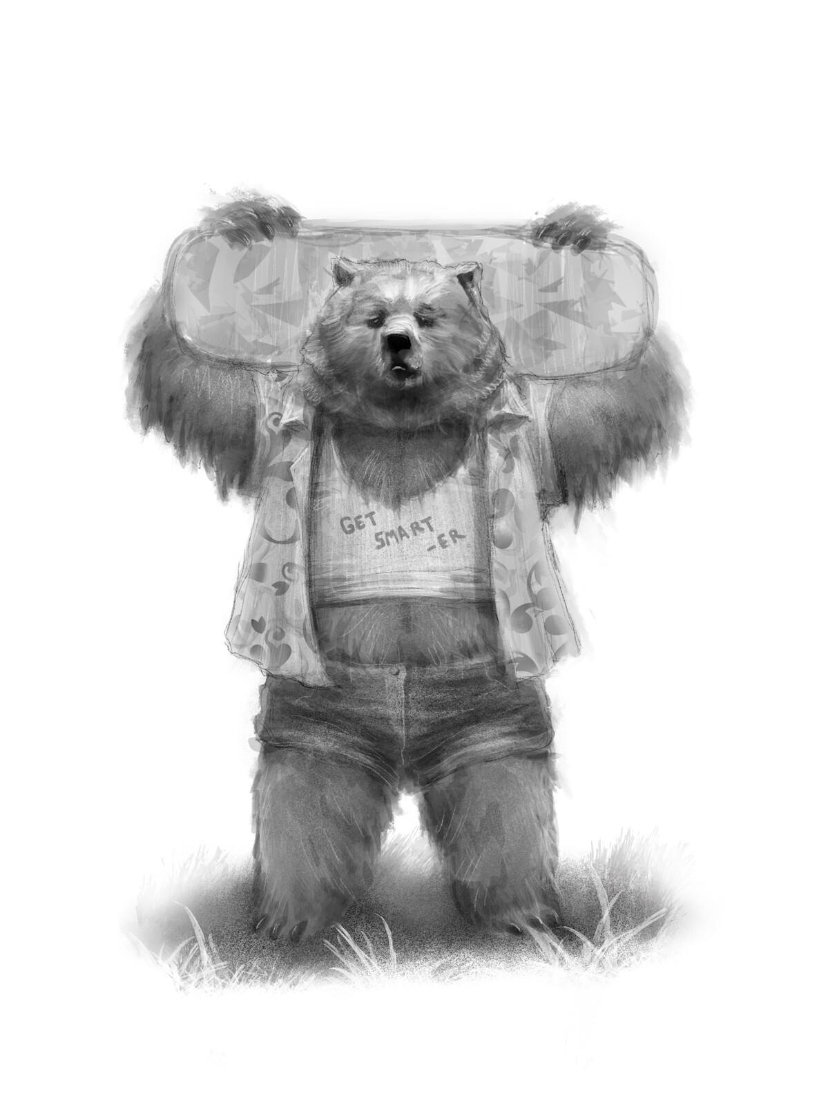 Skateboard Bear