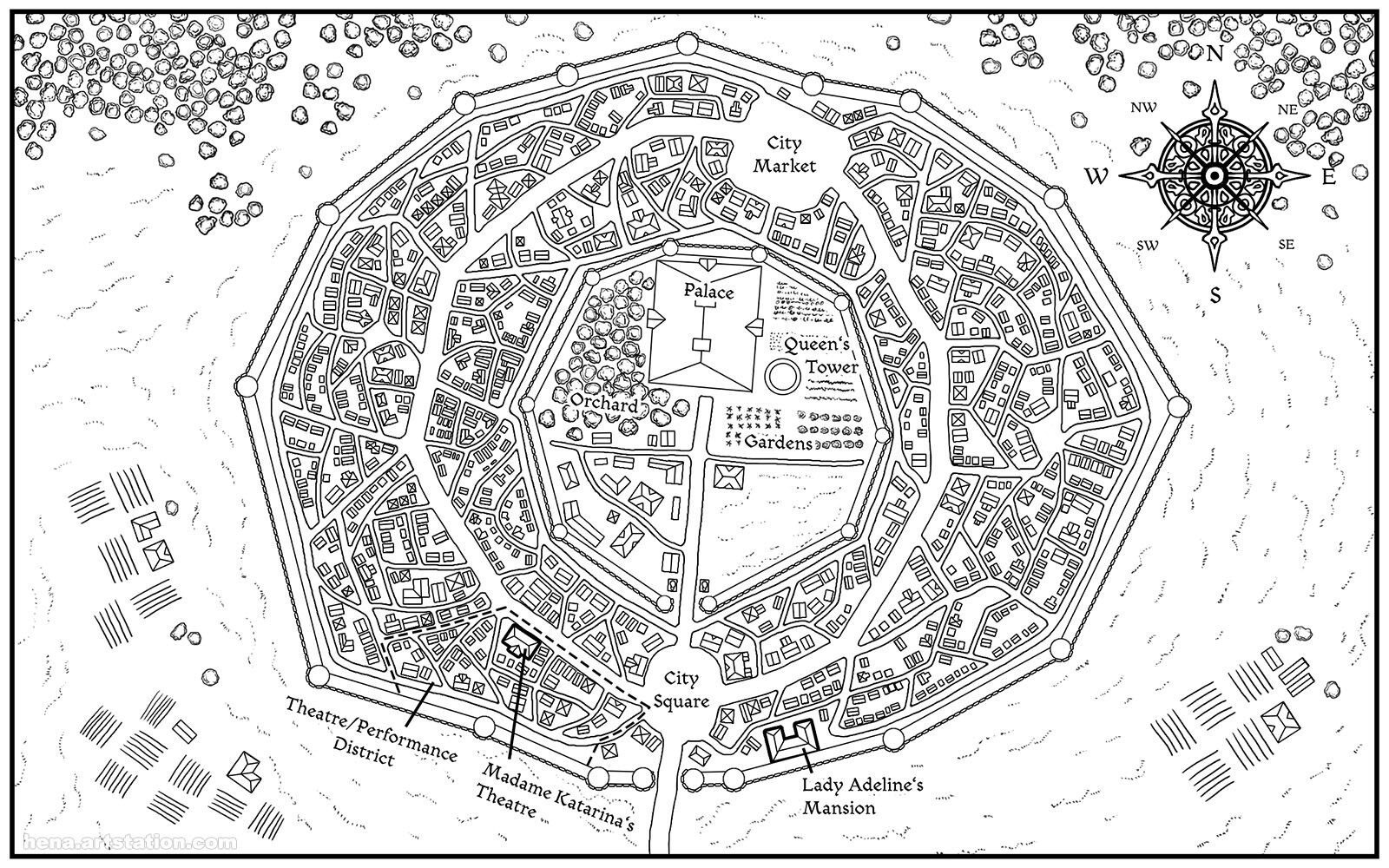 Map Art: Gradoria