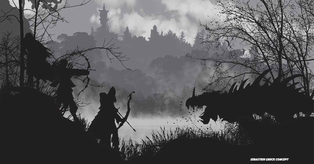 At the foot of the city of Gah Lenoeas, on the shores of the lake, live creatures with skin as hard as steel.