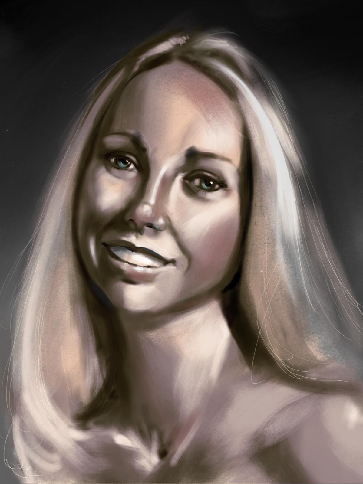 Terry Garr portrait