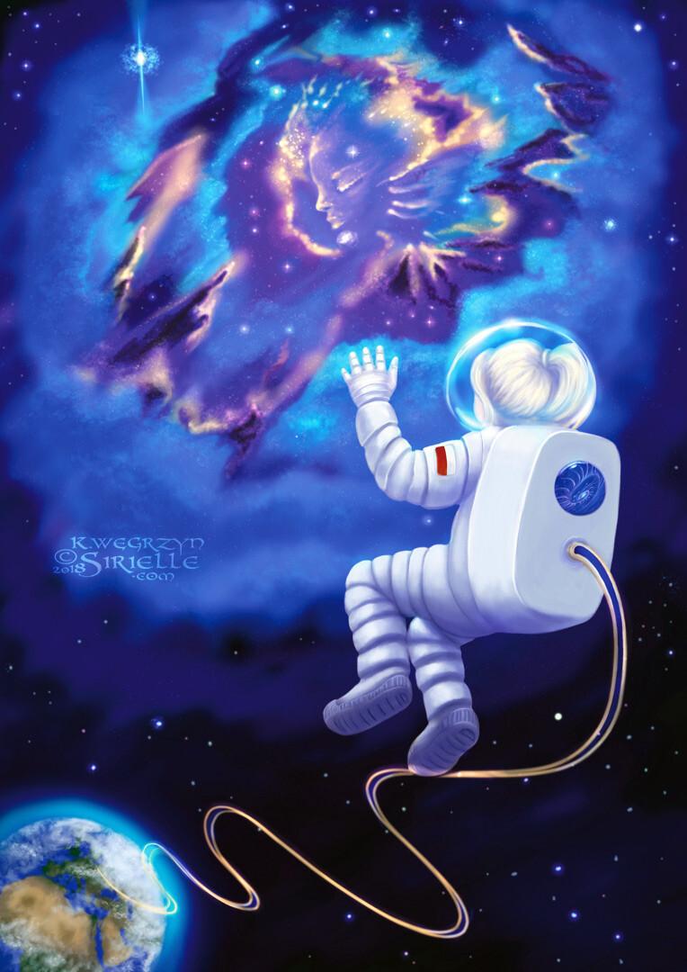 """An Astronaut, My Childhood Dream""  Get prints at ArtStation:  https://artstn.co/pp/fa/MaXB More options at Redbubble:  https://www.redbubble.com/shop/ap/35661194?asc=u"