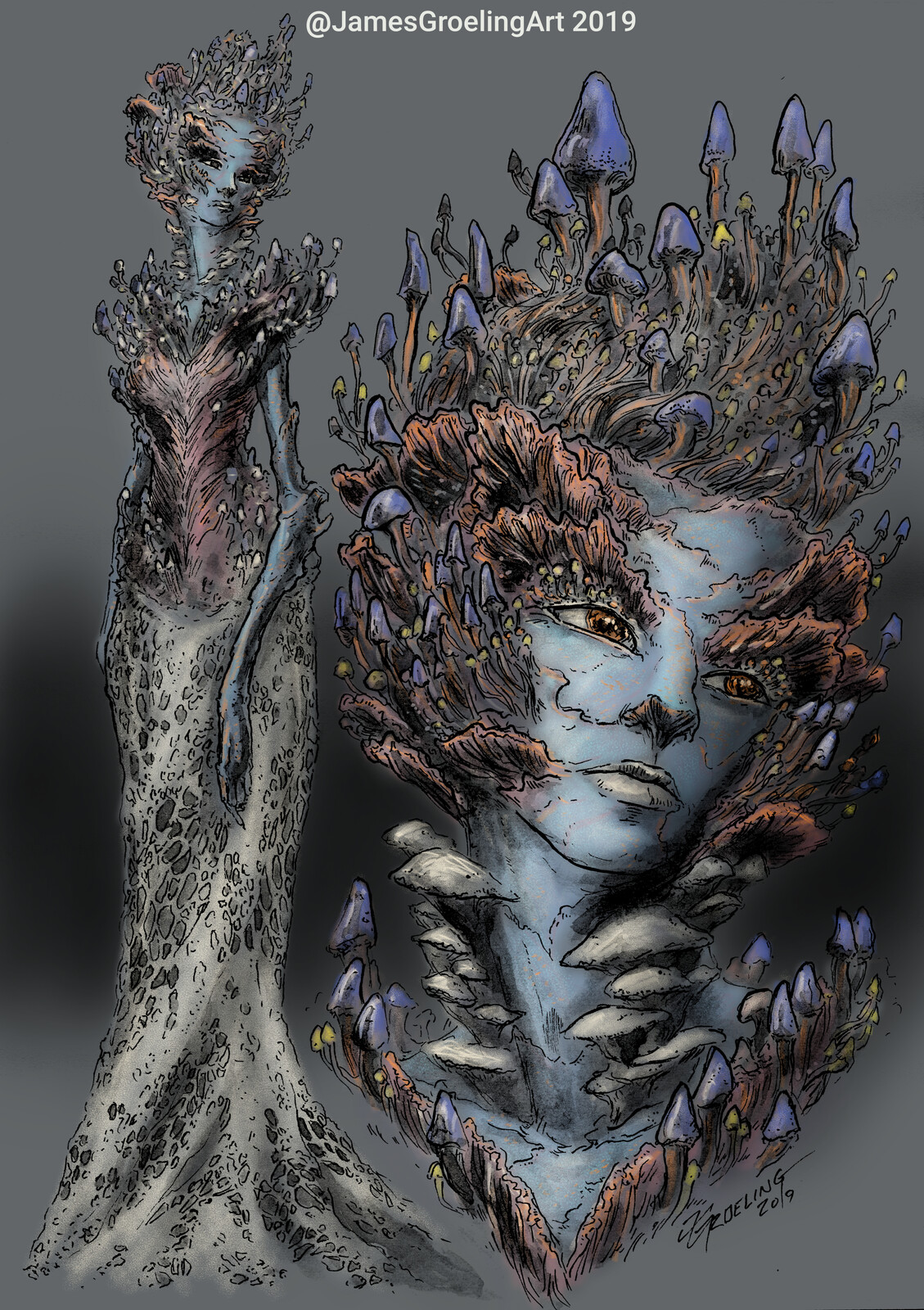 Fungal Queen - Concept Art