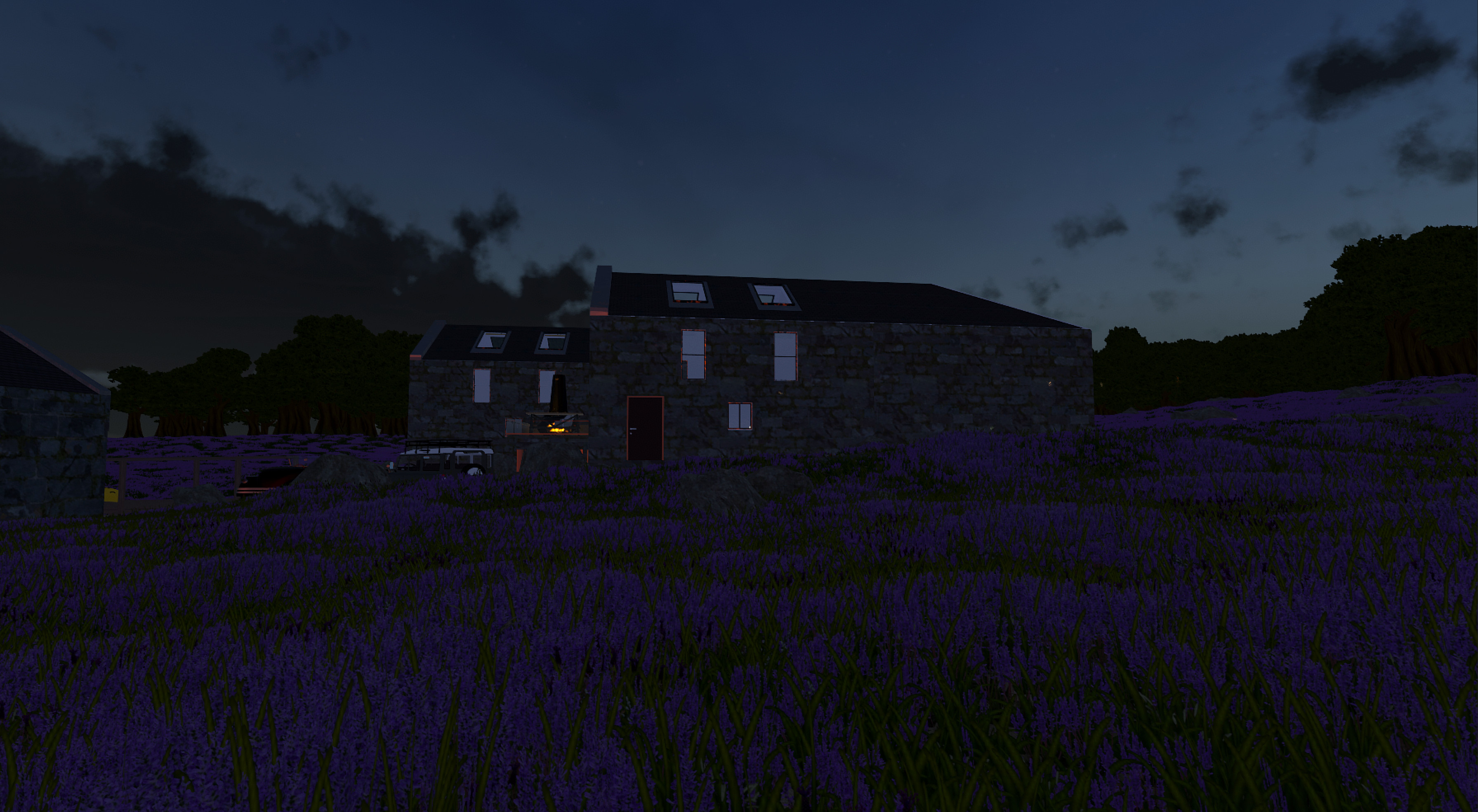 I've been working on a more specific to the Channel Islands environment setup - to be able to quickly go from an architectural model to in-situ with a nice feel. This image is an example of this prototype setup.