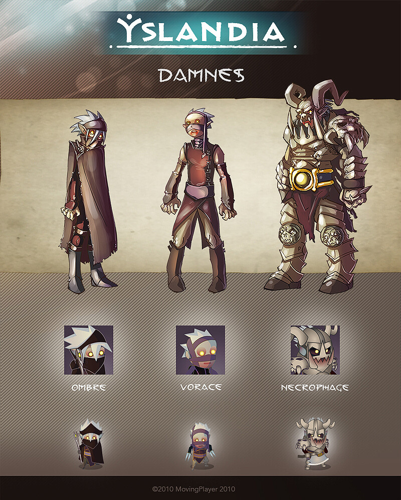 YSLANDIA - DAMNES - character design + icon + in game