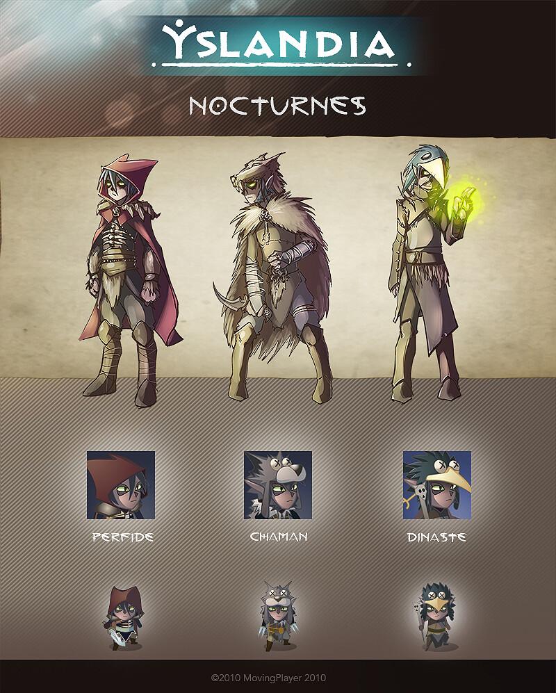 YSLANDIA - NOCTURNES-  character design + icon + in game