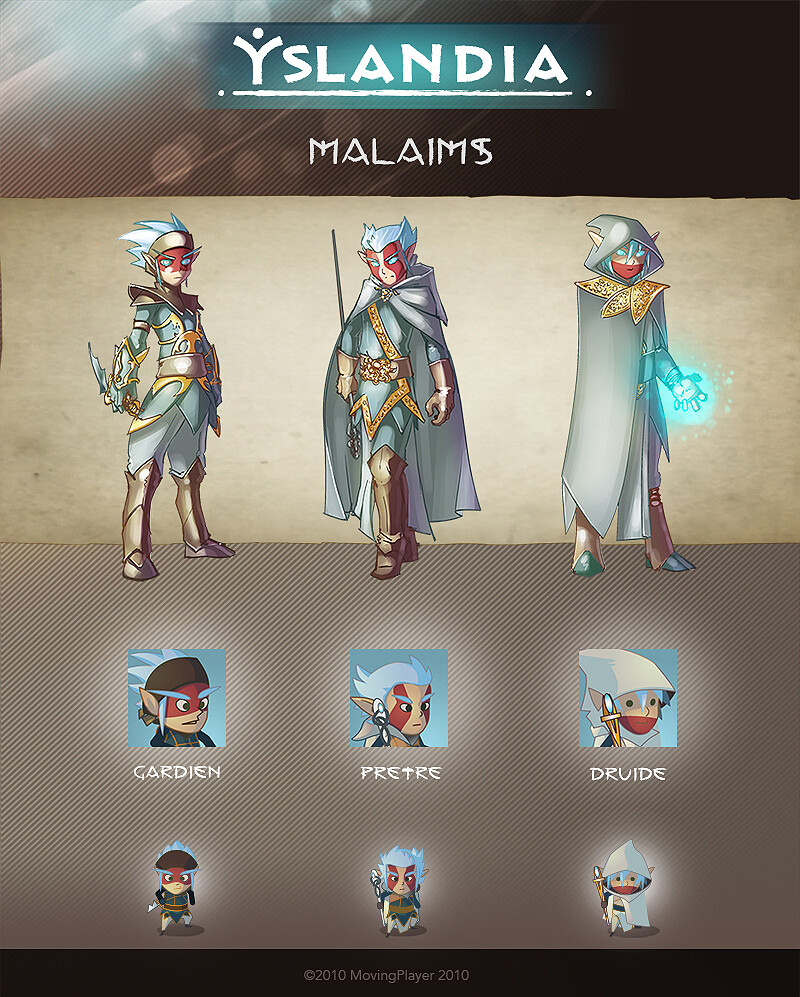 YSLANDIA - MALAIMS - character design + icon + in game (size x3)