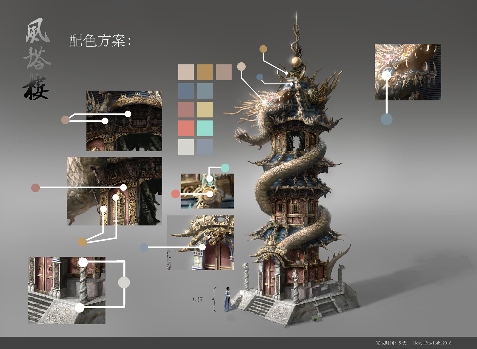 Chinese tower design