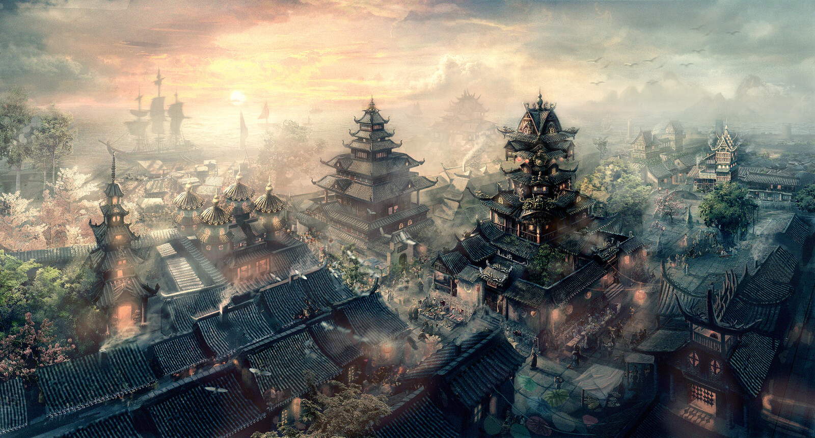 Old work- Ancient Chinese city fantasy