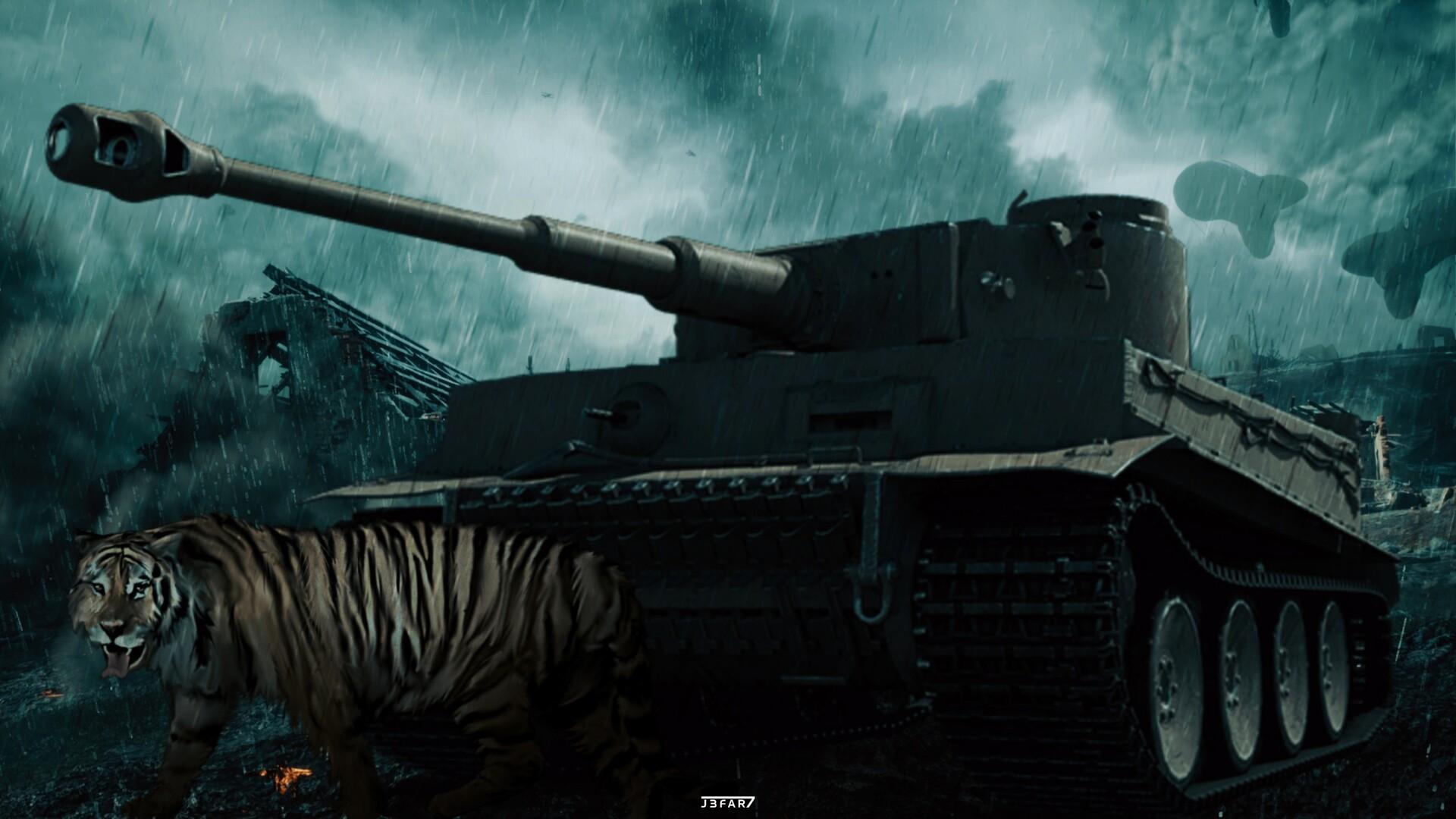 Artstation King Tiger Tank Wallpaper Cesar Jaffar
