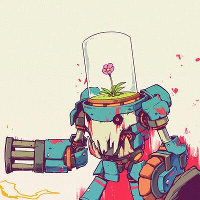 A shipwright flower robot