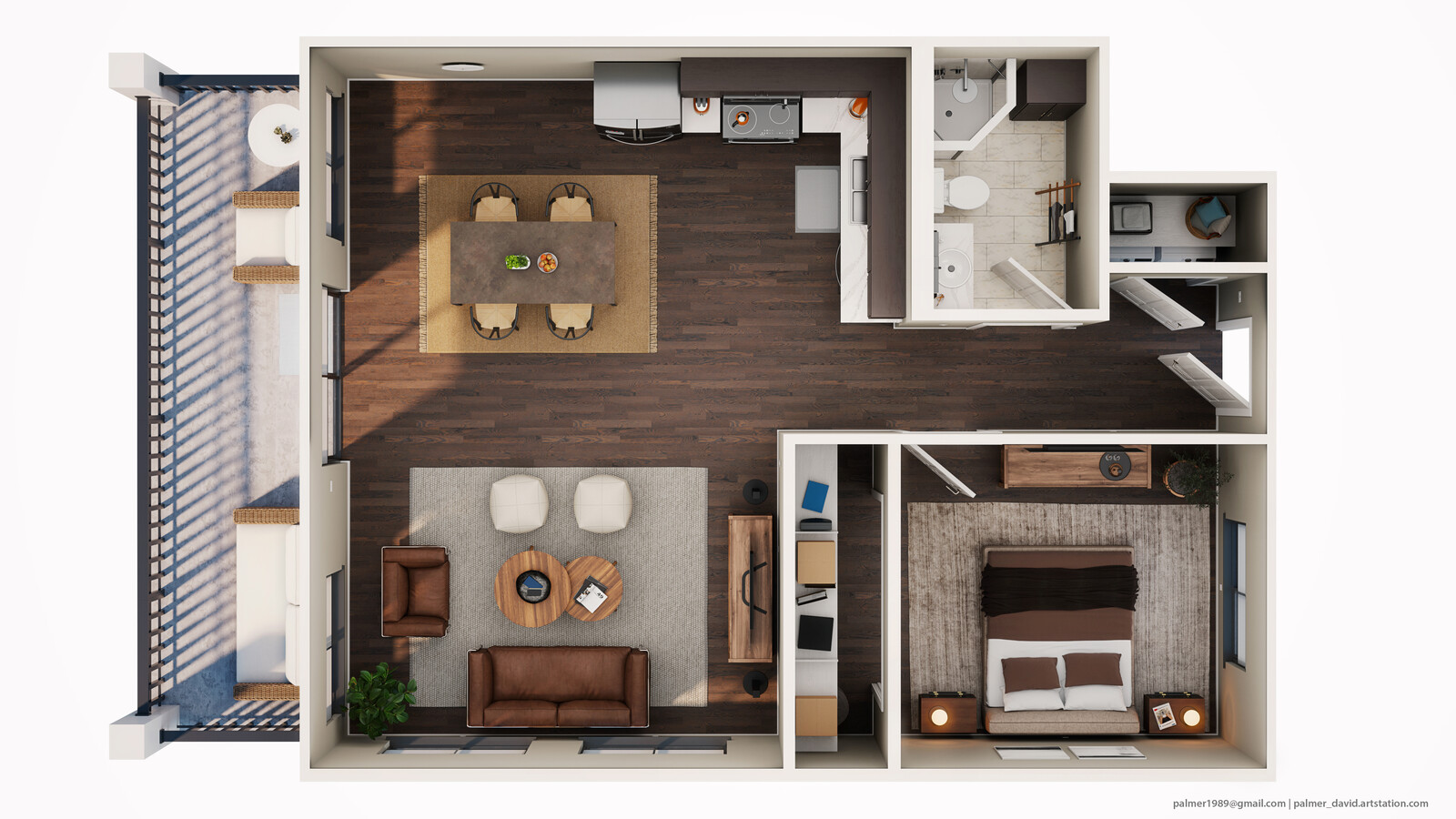 3D Floorplan | Neutral