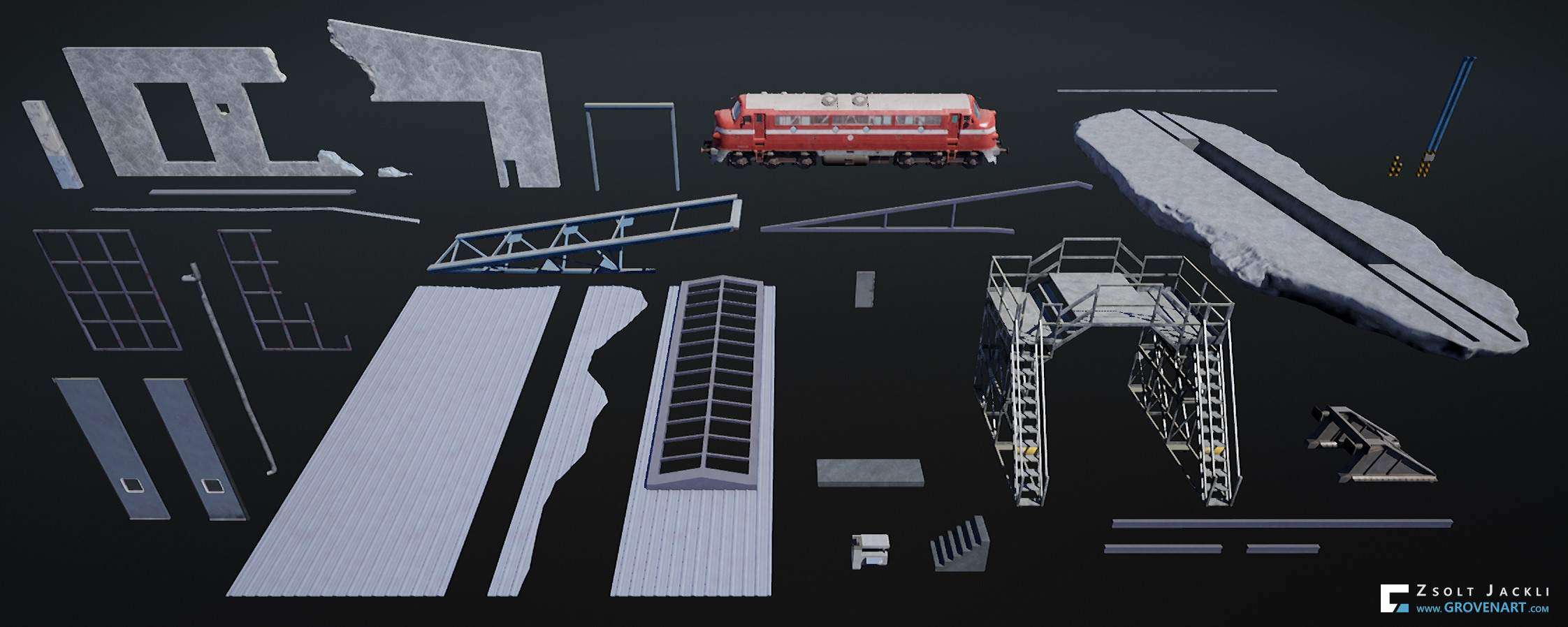 Assets used to build the scene