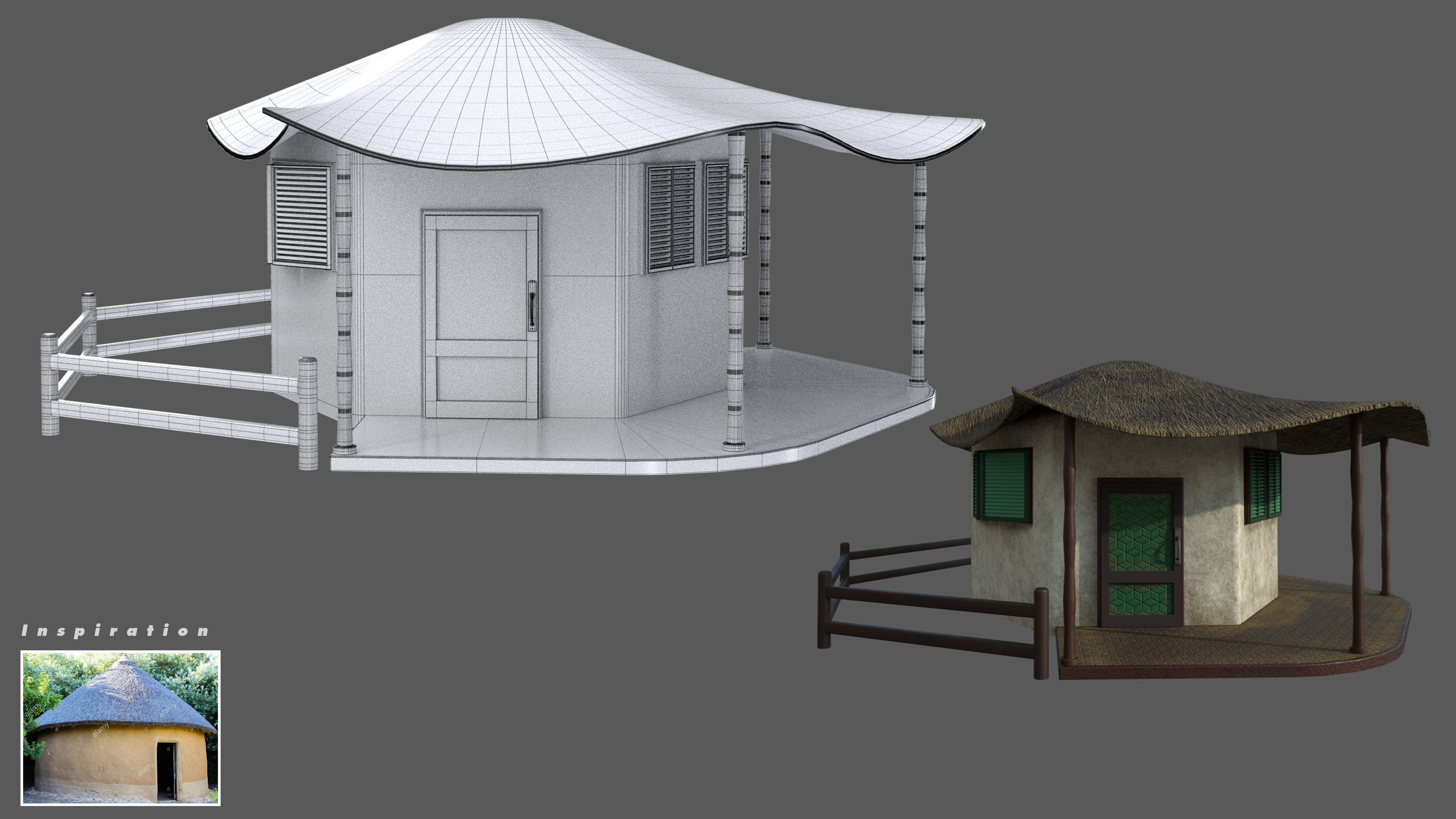 My vision of futuristic African cottage.