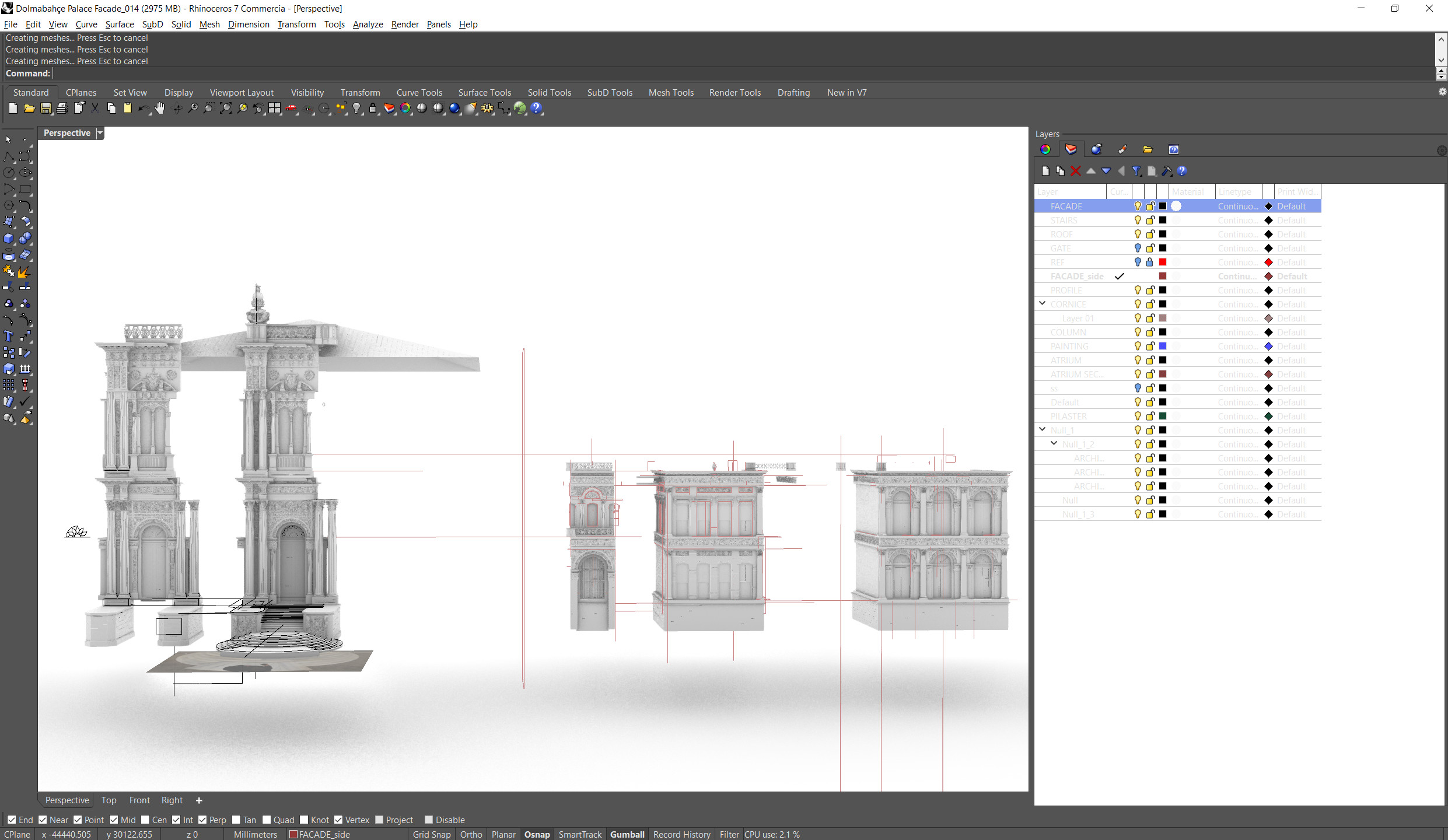 WIP (Rhino) - Facade Modules Overview