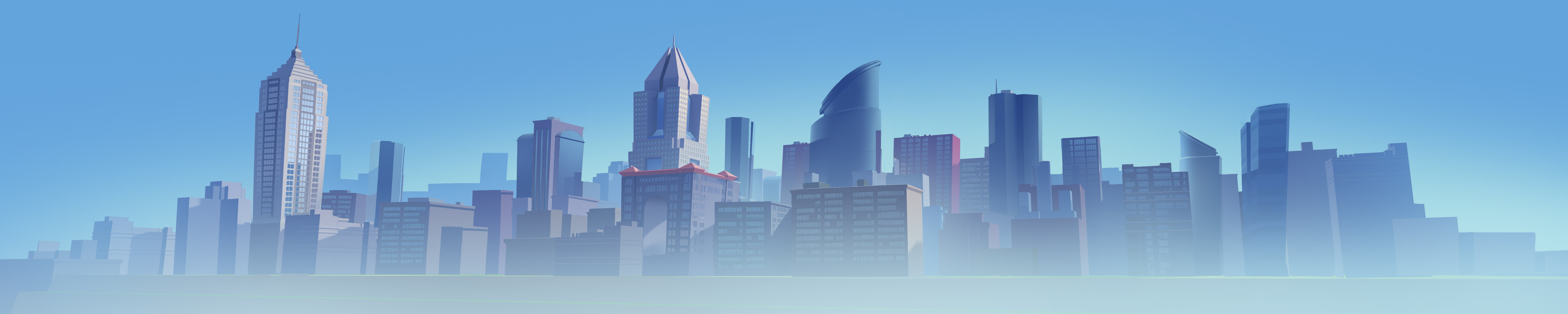 Mattepainting for the buildings in the back