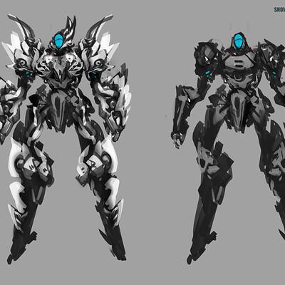 Benedick bana mech armor design