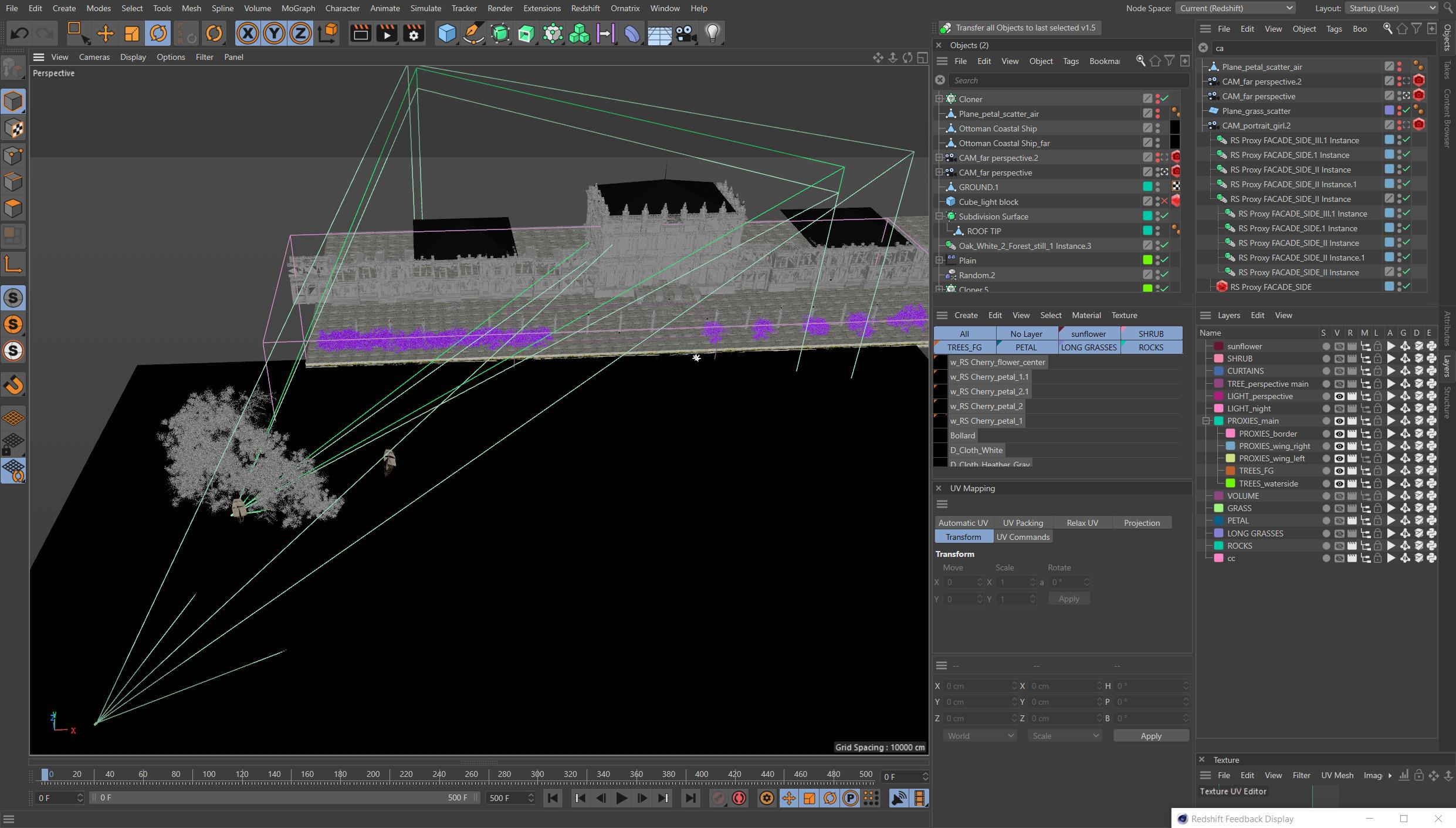 WIP (C4D) - Scene Overview