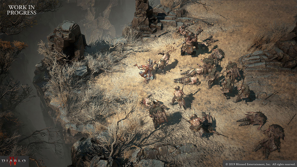 Games can sometimes have many people take a role in the creation of a thing- Jarred Everson created the base for many of the cannibal barbarians that I adjusted.  https://news.blizzard.com/en-us/diablo4/23308274/diablo-iv-quarterly-update-february-2020