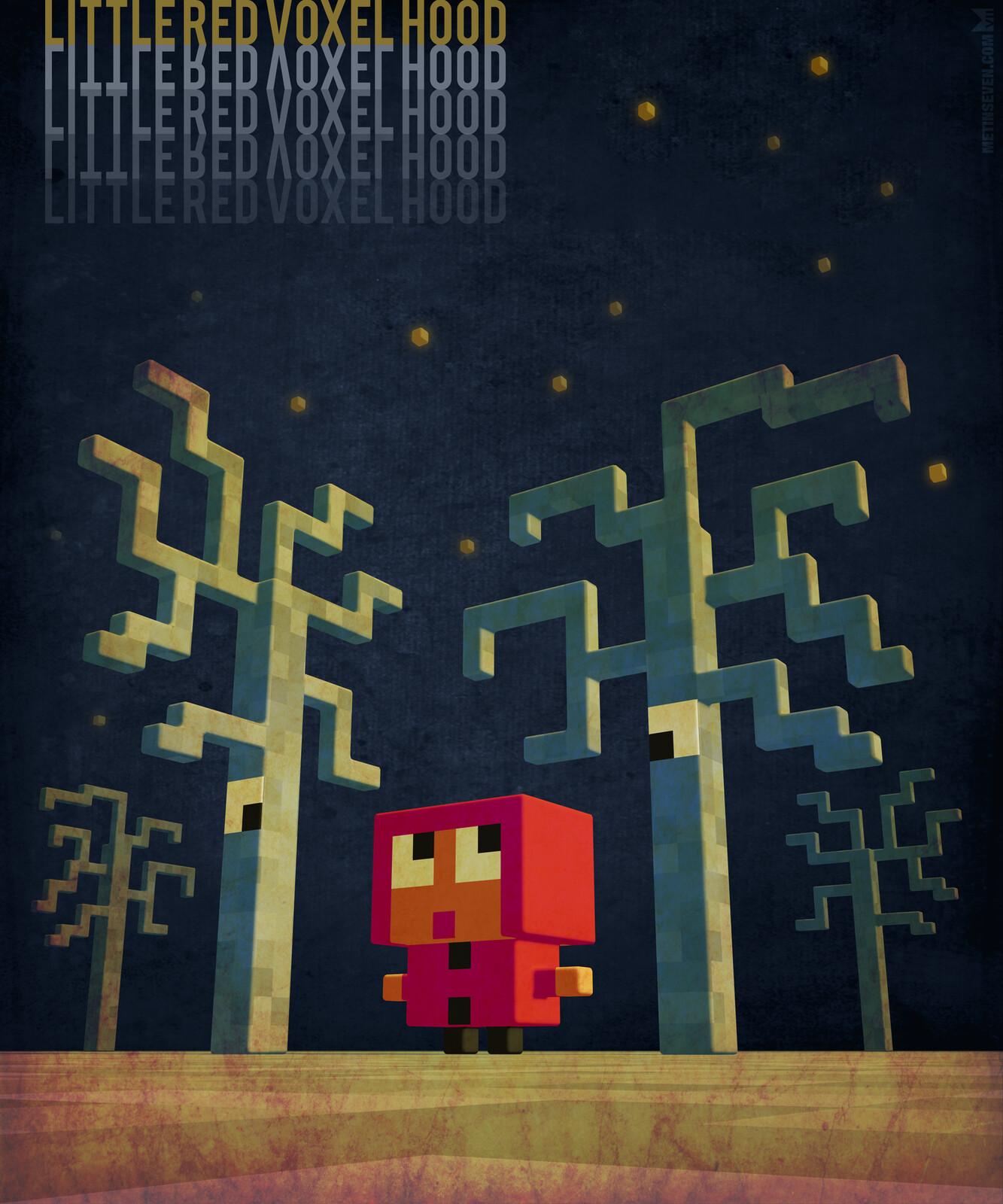 Little Red Voxel Hood, children's book concept