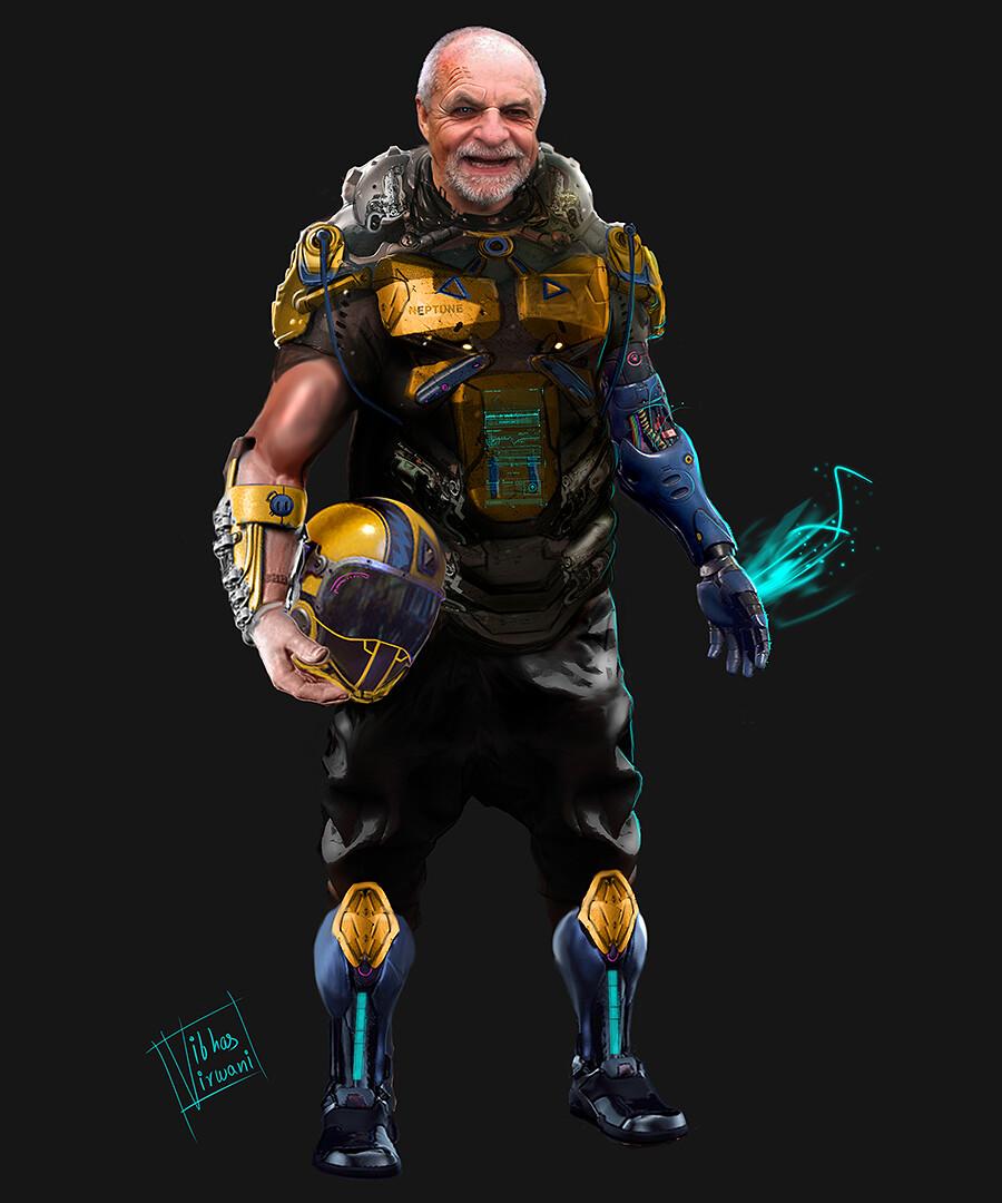 final concept - cyberpunk infiltrator