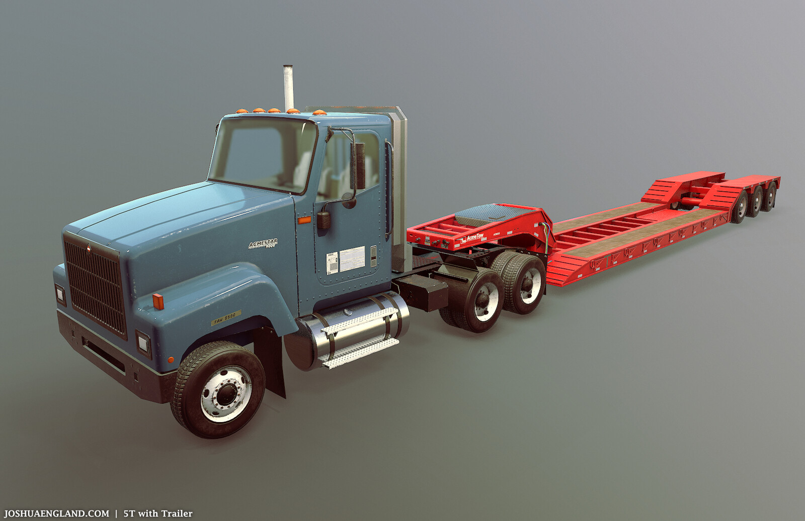 5T with Trailer   /   48,470 Triangles   /   5 Materials