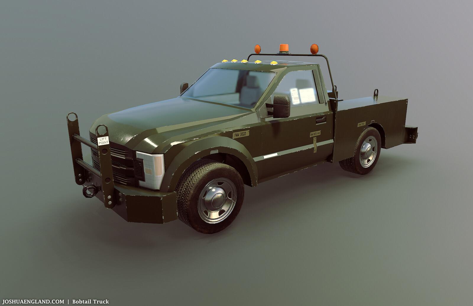 Bobtail Truck   /   10,851 Triangles   /   5 Materials